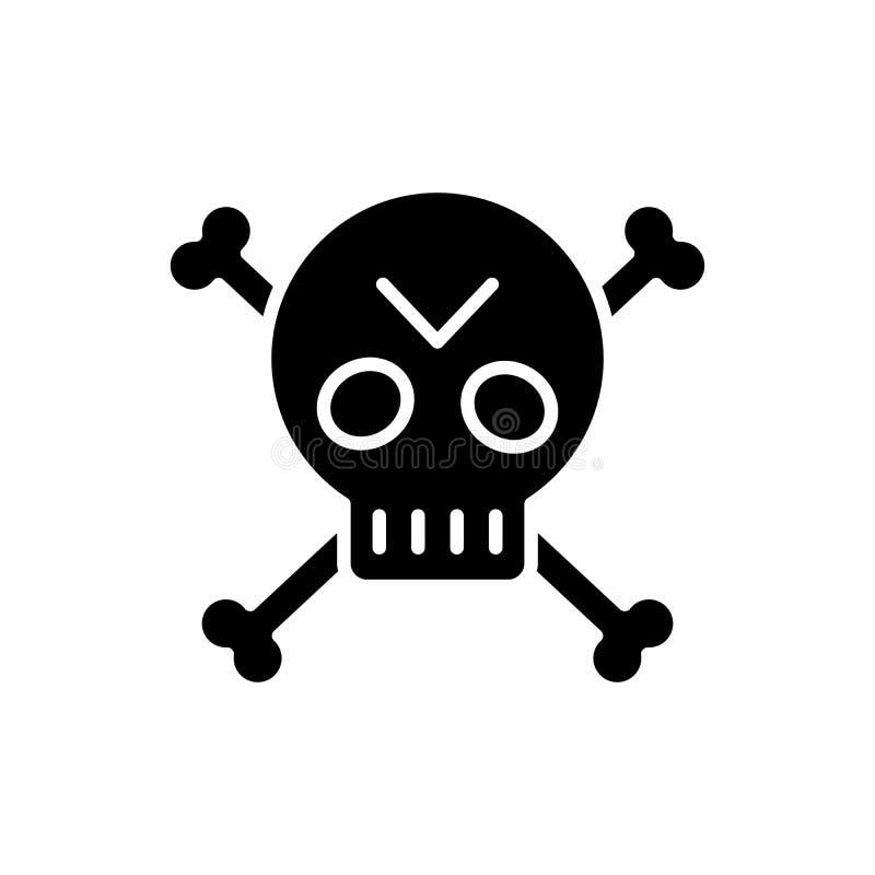 Piratkopiera det svarta symbolsbegreppet för symbolet Piratkopiera det plana vektorsymbolet för symbolet, tecknet, illustration royaltyfri illustrationer