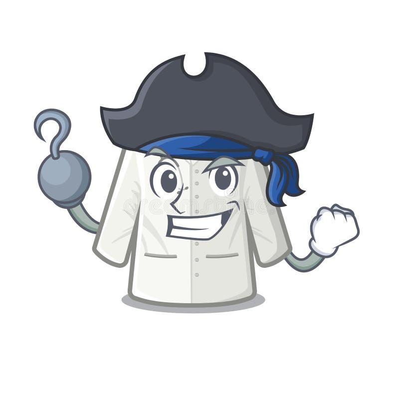 Piratkopiera doktorslaget i tecknad filmformen vektor illustrationer