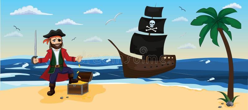 piratkopiera För tyger tapet som förpackar, bakgrund royaltyfri illustrationer