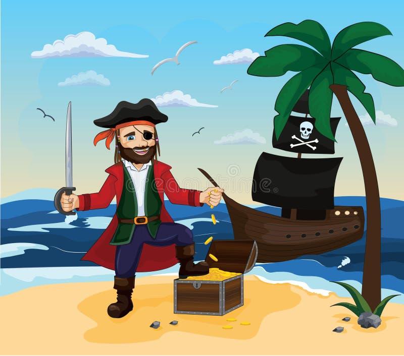 piratkopiera För tyger tapet som förpackar, bakgrund stock illustrationer