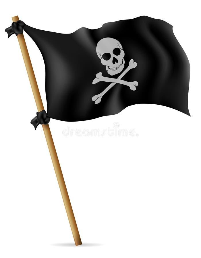 Piratkopiera flaggavektorillustrationen vektor illustrationer