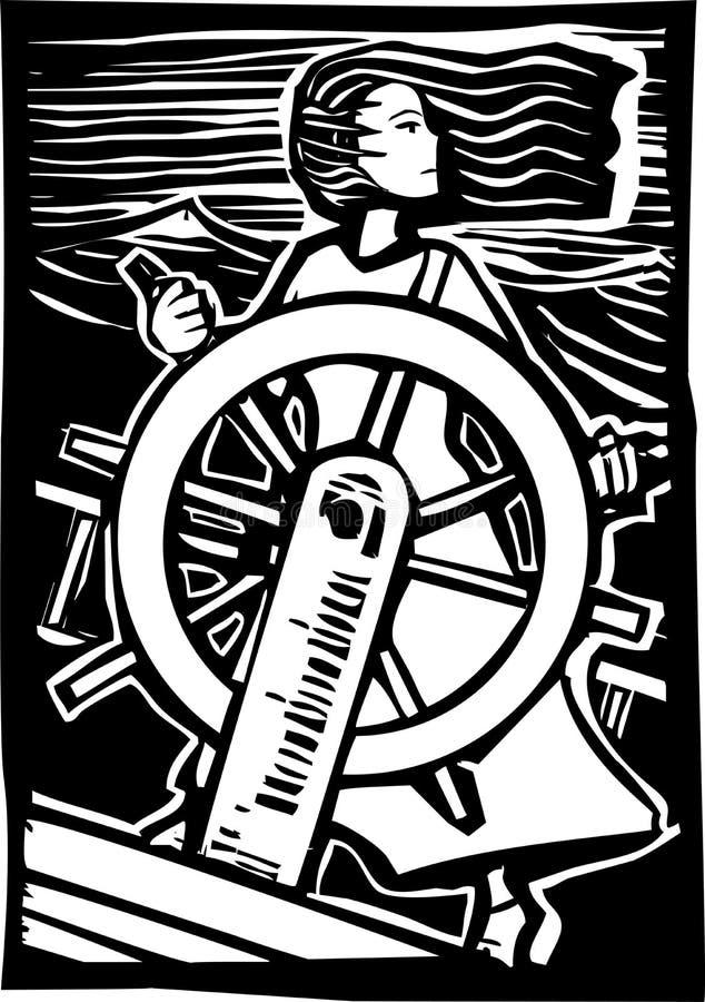 Piratkopiera flickan vektor illustrationer