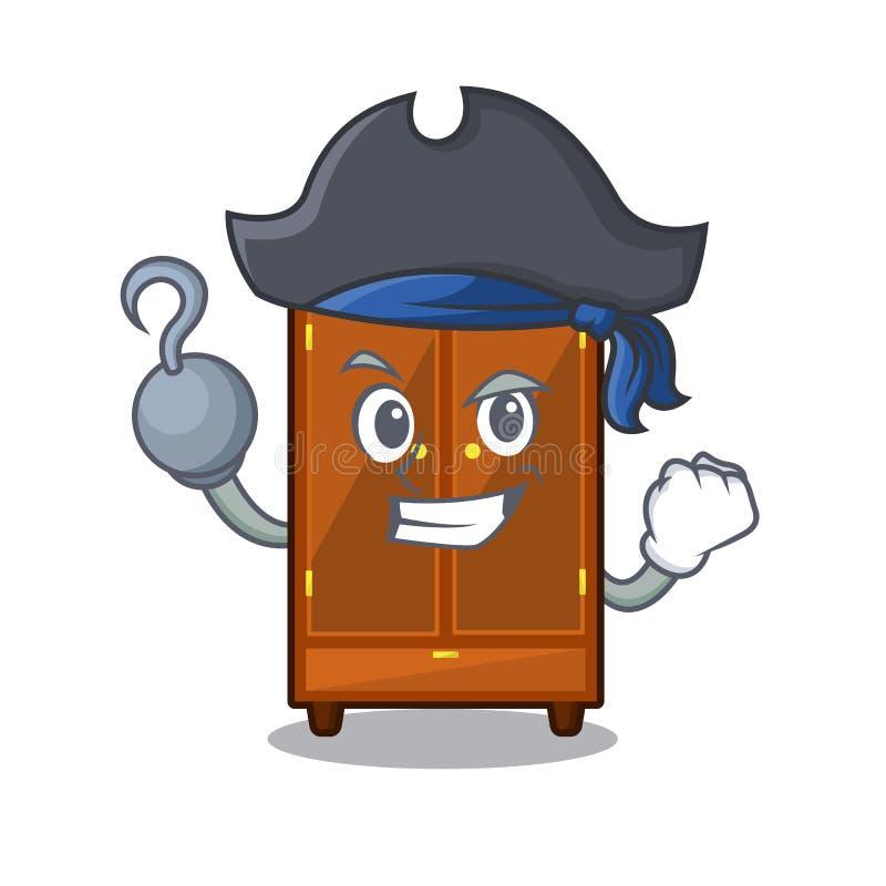 Piratkopiera garderoben i a-maskotsovrummet royaltyfri illustrationer