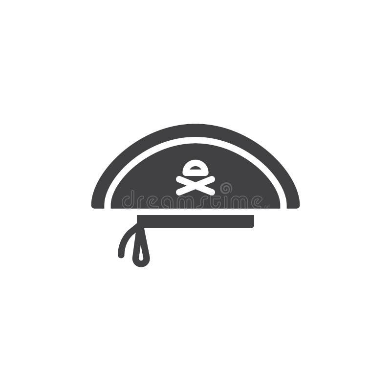Piratkopiera hattvektorsymbolen vektor illustrationer