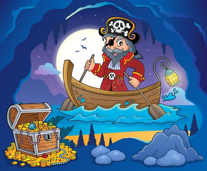 Piratkopiera i fartygämnebild 3 royaltyfri illustrationer
