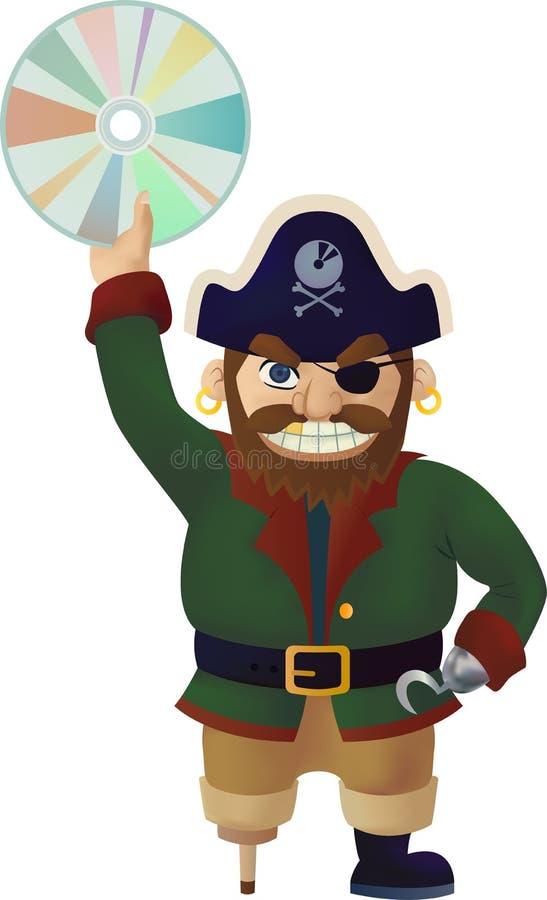 Piratkopiera - illustration royaltyfria foton
