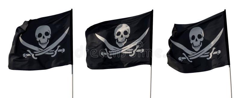 Piratkopiera isolerade flaggor fotografering för bildbyråer