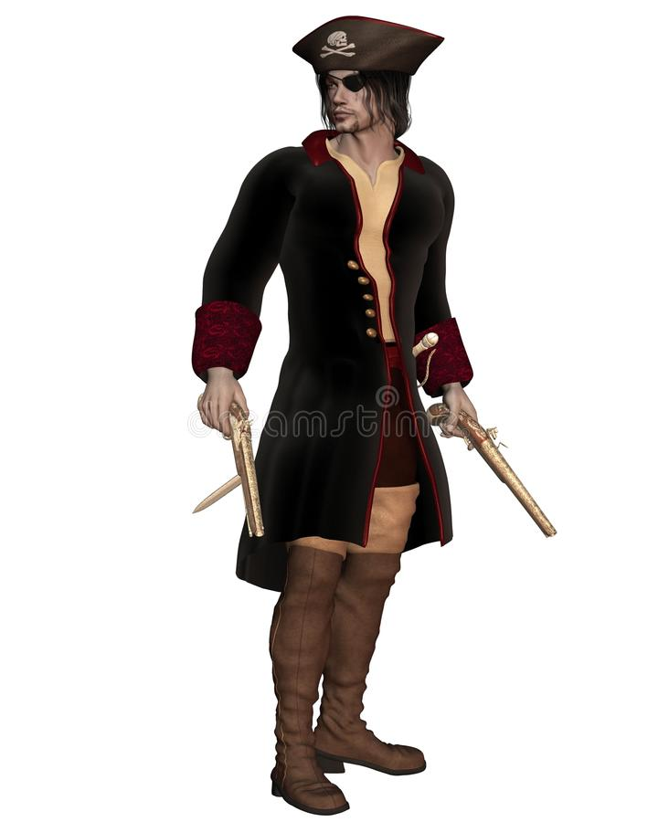 Piratkopiera kaptenen stock illustrationer