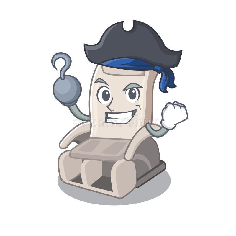 Piratkopiera massagestol som isoleras i teckenet royaltyfri illustrationer