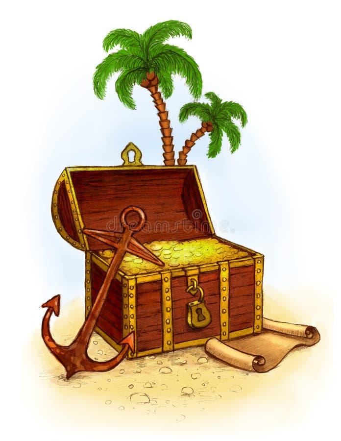 piratkopiera s-skatten stock illustrationer