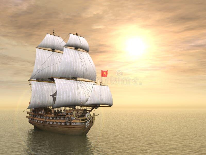 piratkopiera shipen vektor illustrationer