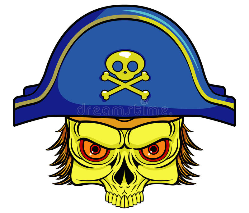 Piratkopiera skallen stock illustrationer