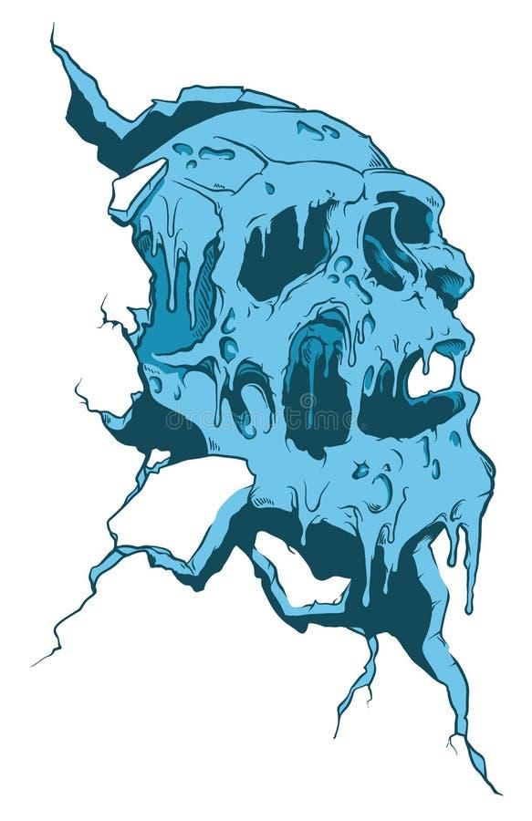 Piratkopiera skallen på vit bakgrund vektor illustrationer
