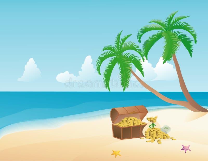piratkopiera skatten stock illustrationer
