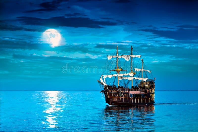 Piratkopiera skeppet vektor illustrationer