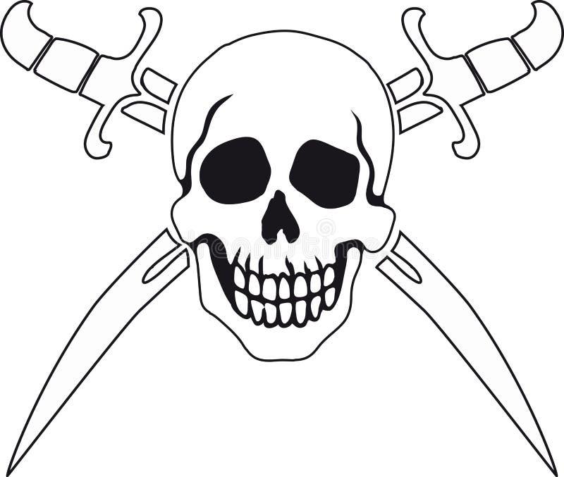 Piratkopiera symbolet glade roger vektor illustrationer