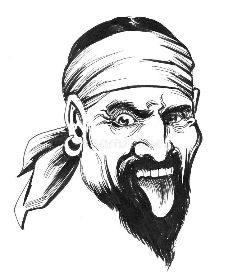 Piratkopiera teckenet royaltyfri illustrationer