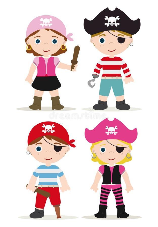 Piratkopierar royaltyfri illustrationer