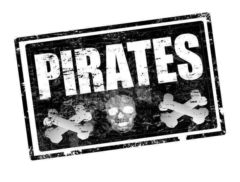 piratkopierar stämpeln vektor illustrationer