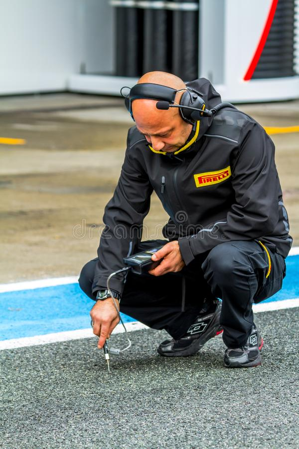 Pirelli tekniker arkivfoton