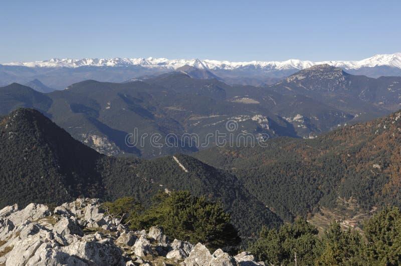 Pirenei da Mare de Deu del Mon Albanya, Giron fotografie stock libere da diritti