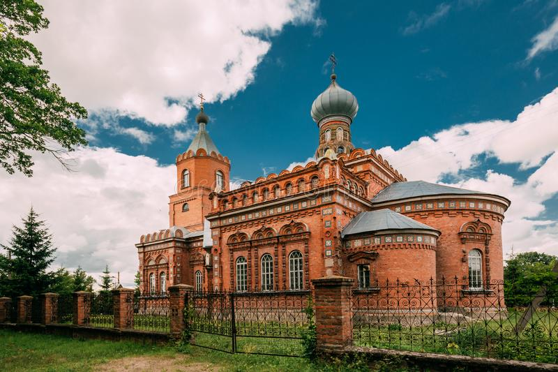 Pirevichi Village, Zhlobin District Of Gomel Region Of Belarus. All Saints Church Is Old Cultural And Architectural Monument stock photography