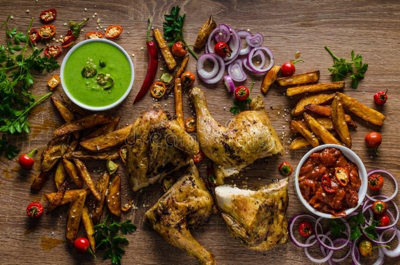 Piri piri korzenny kurczak obrazy stock
