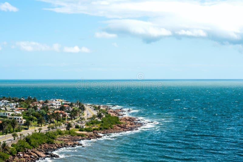 Piriapolis i kusten av Uruguay royaltyfria foton