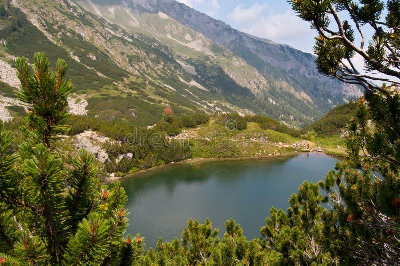 pirin горы озера стоковое изображение rf