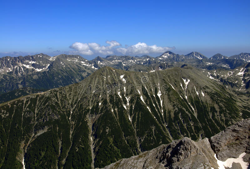 Pirin berg royaltyfria foton