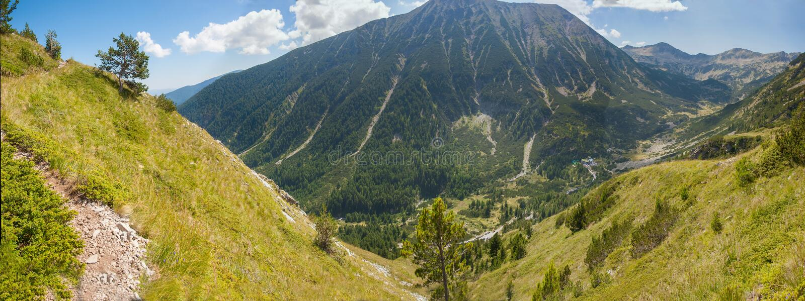Pirin Mountain Panorama 1 royalty free stock photography