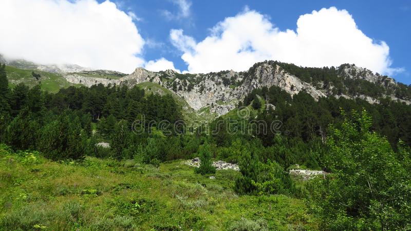 The Pirin Mountains National Park. Some of the more than 100 peaks in the Pirin Mountains in Bulgaria. stock image
