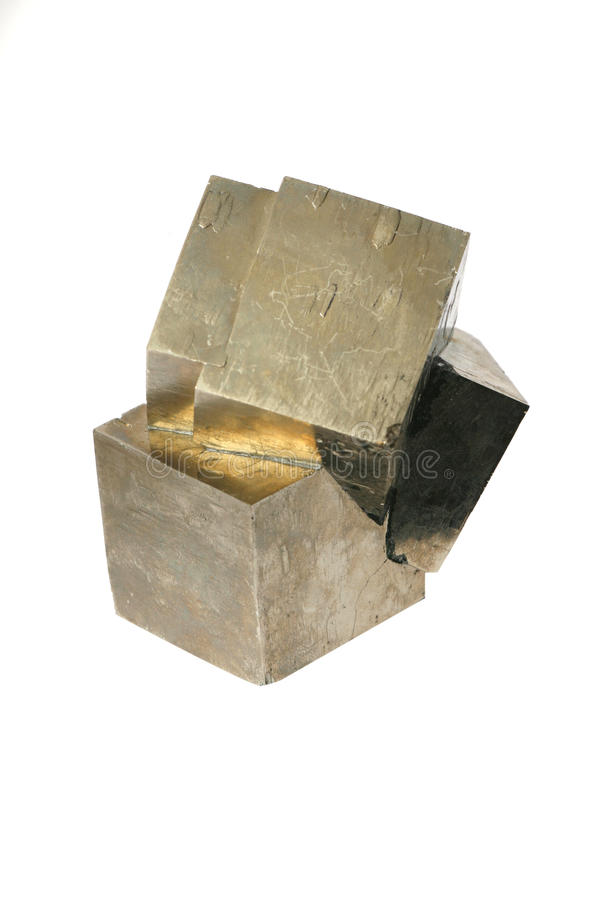 Pirita de hierro imagen de archivo