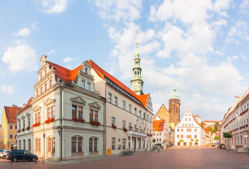 Pirna, Γερμανία susnet στοκ φωτογραφίες με δικαίωμα ελεύθερης χρήσης