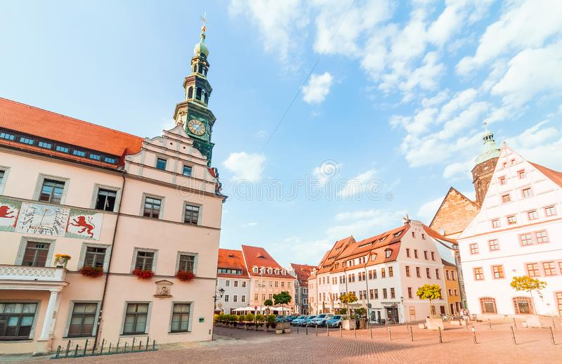 Pirna, Γερμανία susnet στοκ φωτογραφία με δικαίωμα ελεύθερης χρήσης