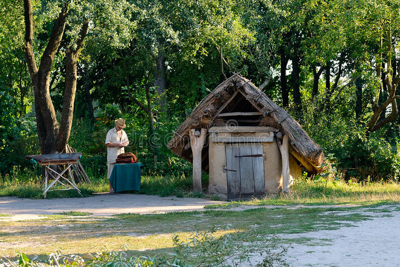 Pirogov museum. Museum of Folk Architecture and Life of Ukraine (Pirogov), Holosiivskyi district of Kiev, Ukraine stock photography