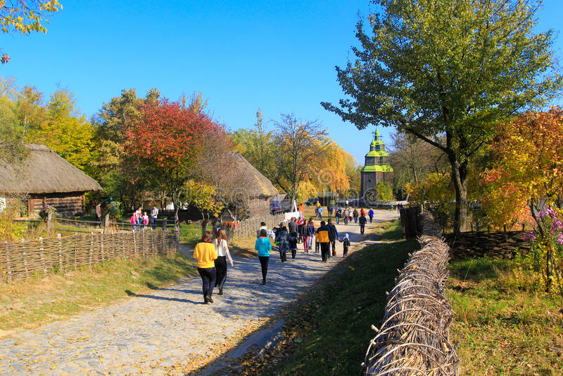 Pirogovo im Herbst lizenzfreie stockfotografie