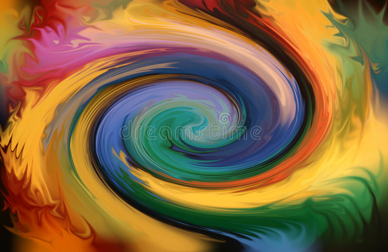 Pirouette abstraite de couleur illustration de vecteur