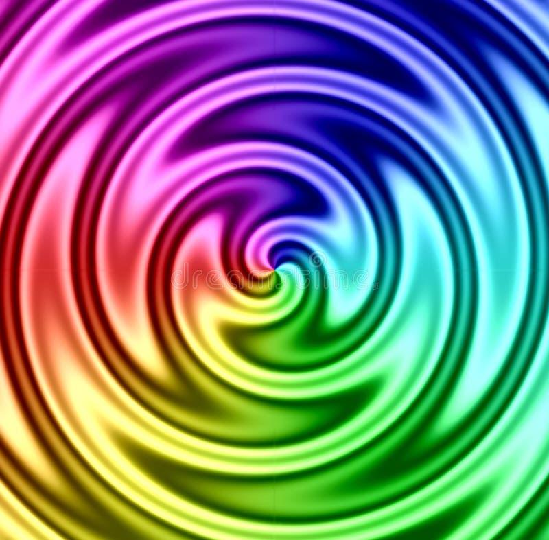 Pirouette de liquide d'arc-en-ciel illustration de vecteur