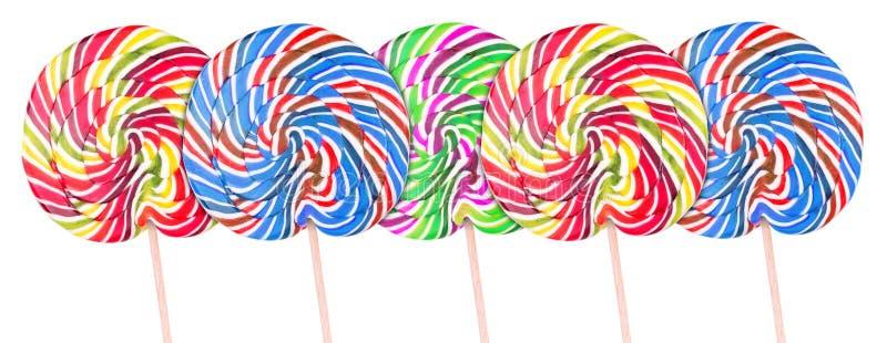 Download Piruleta Colorida Brillante Sobre El Fondo Blanco Stock de ilustración - Ilustración de diseño, alimento: 42434071