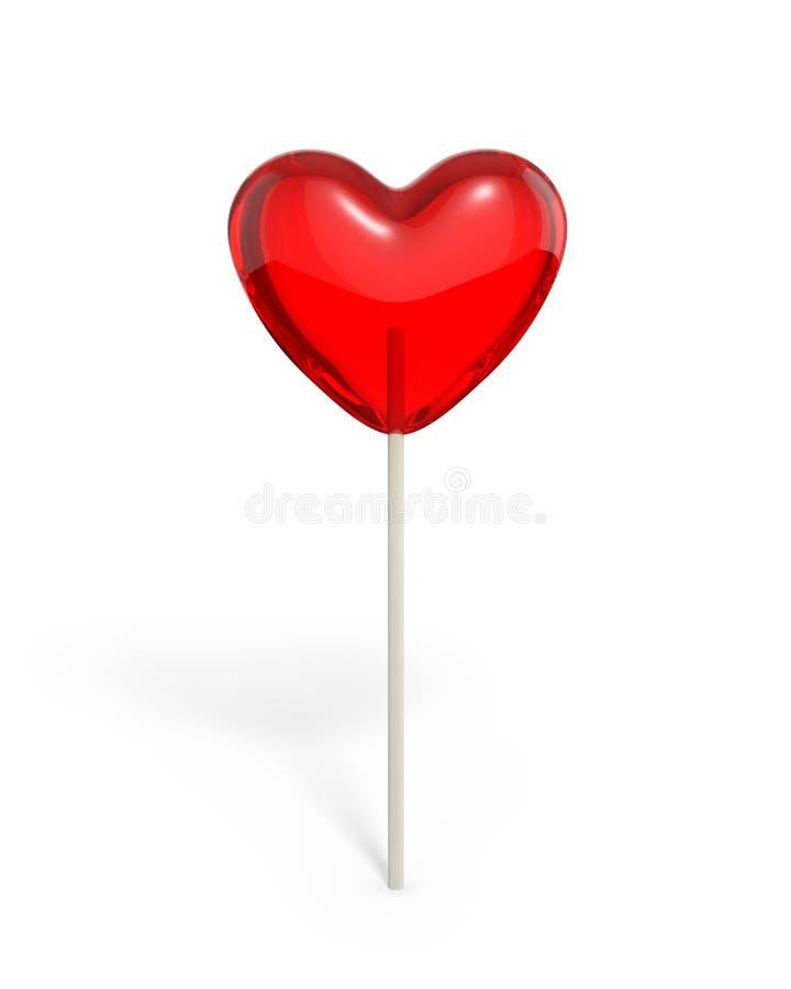 Piruleta en forma de corazón stock de ilustración