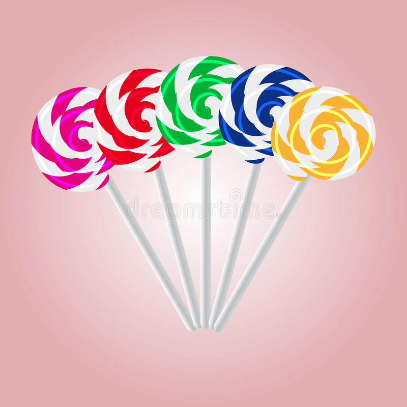 Piruletas dulces coloridas eps10 stock de ilustración