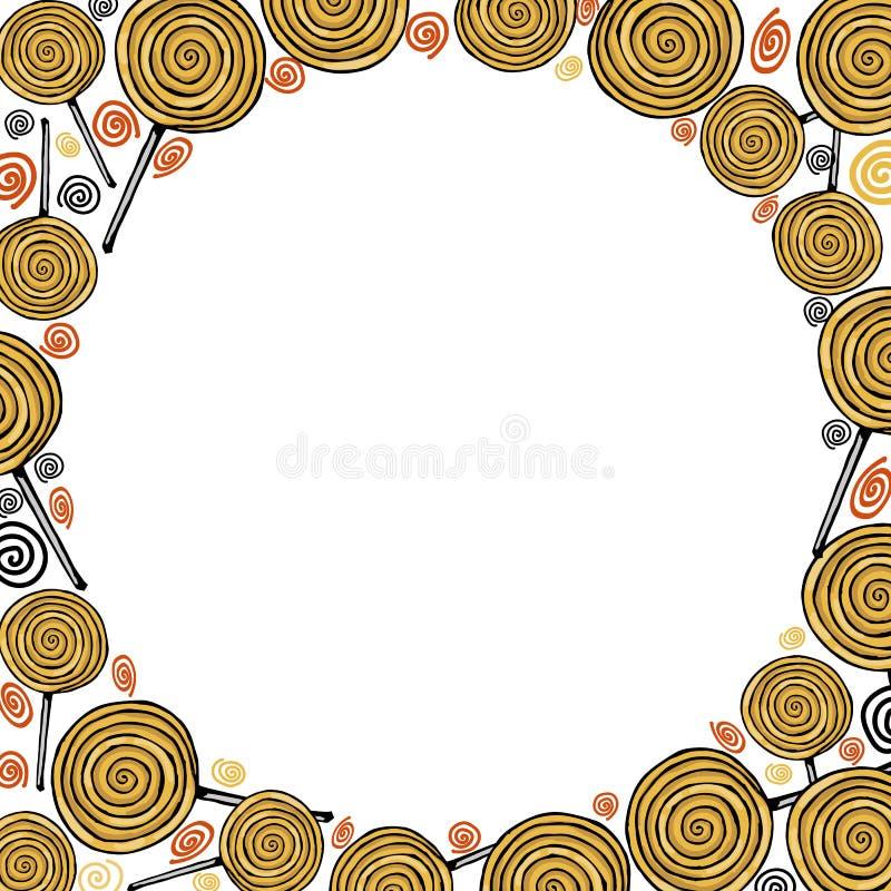 Pirulitos coloridos do vetor, doces ilustração do vetor