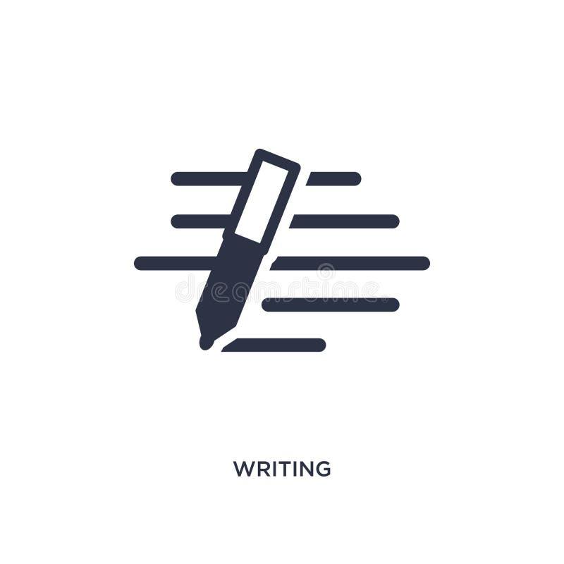 pisać ikonie na białym tle Prosta element ilustracja od obsługi klientej pojęcia ilustracja wektor