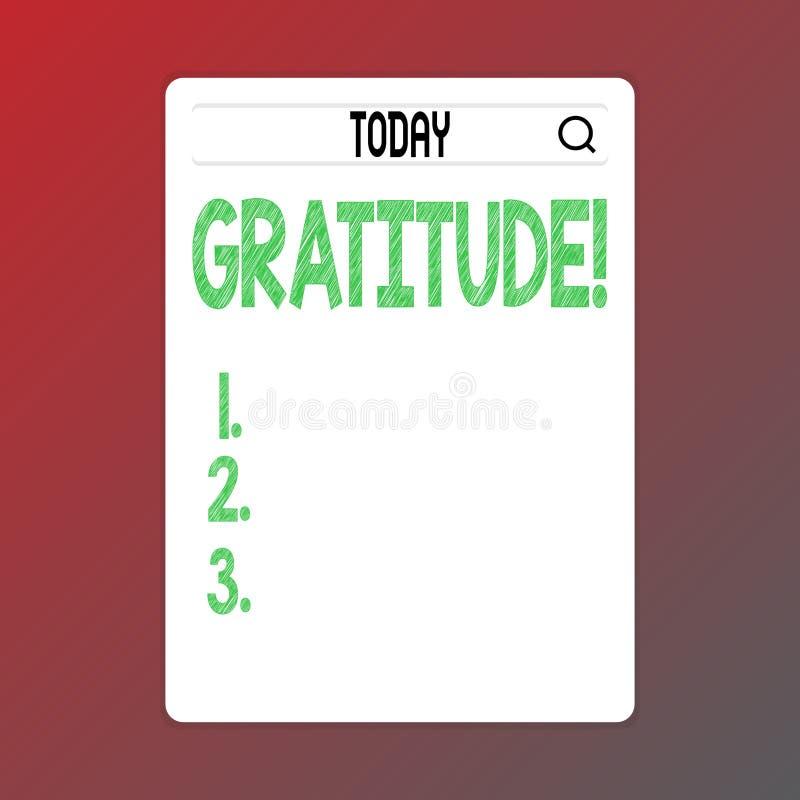 Pisać nutowej pokazuje wdzięczności Biznesowa fotografia pokazuje ilość być dziękczynnym docenienia dziękczynnością ilustracji