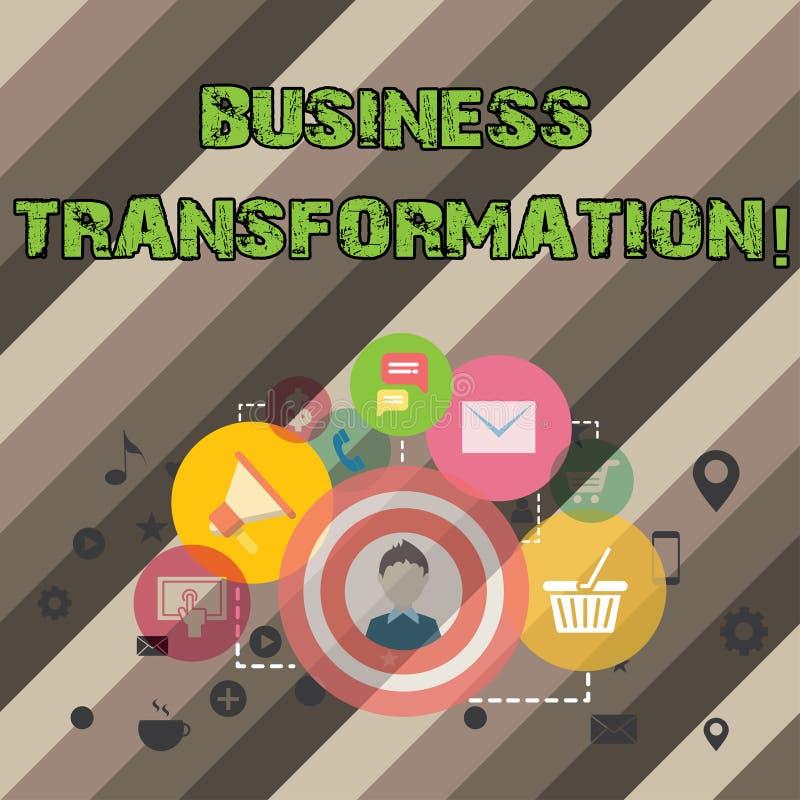 Pisać nutowej seansu biznesu transformaci Biznesowa fotografia pokazuje robić zmienia w conduction firma ilustracji