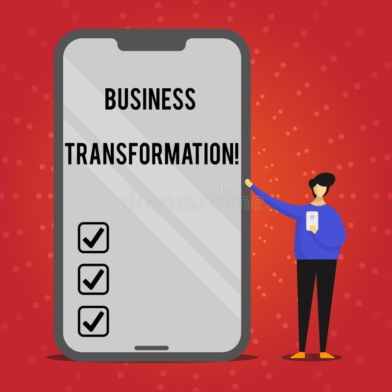 Pisać nutowej seansu biznesu transformaci Biznesowa fotografia pokazuje robić zmienia w conduction firma royalty ilustracja