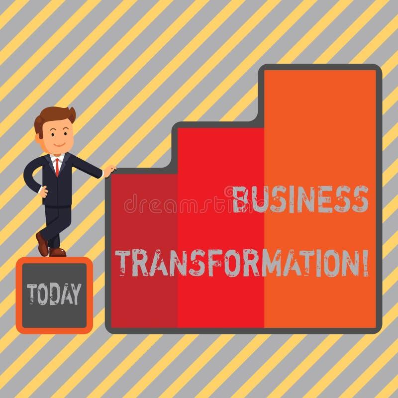 Pisać nutowej seansu biznesu transformaci Biznesowa fotografia pokazuje robić zmienia w conduction firma ilustracja wektor
