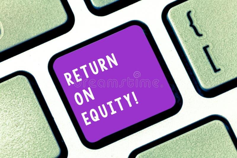 Pisać nutowym pokazuje powrocie Na sprawiedliwości Biznesowa fotografia pokazuje dochodowość biznes w związku z wartością obraz stock