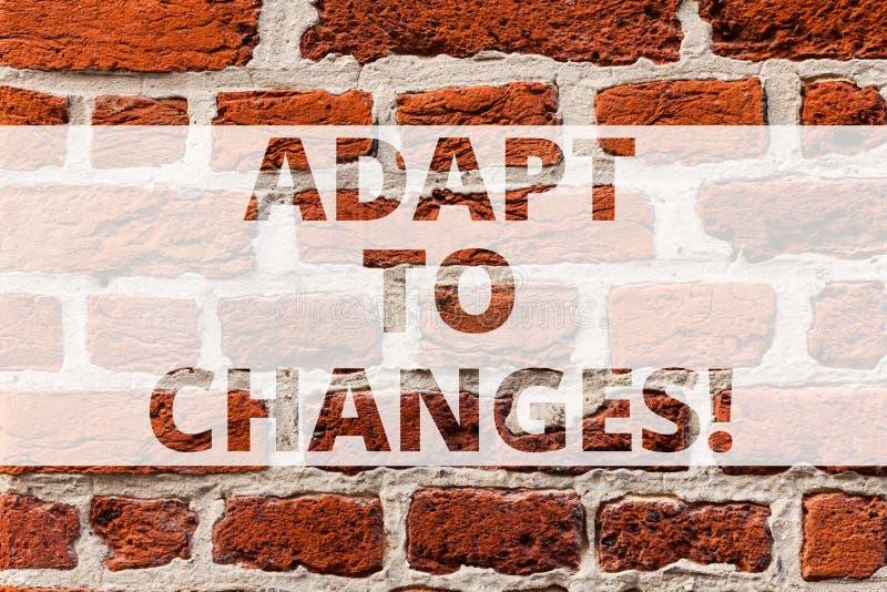 Pisać nutowym seansie Adaptuje zmiany Biznesowa fotografia pokazuje zmianę twój zachowanie lub zdjęcie stock